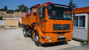 camion 10t benne preneuse